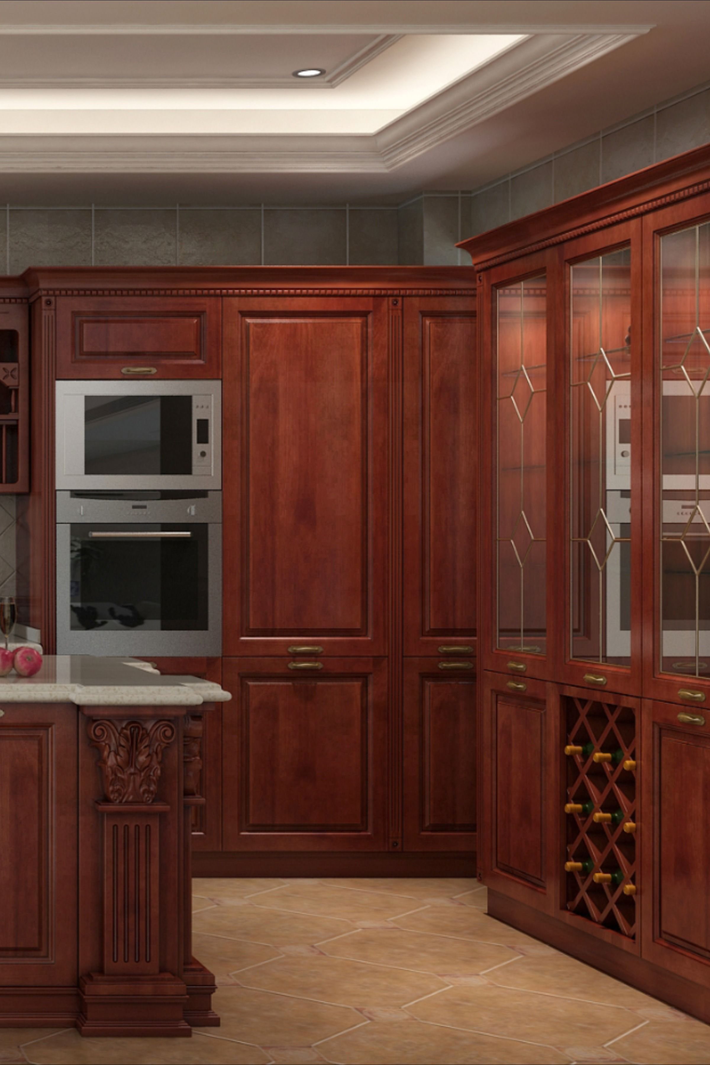 Classic Solid Wood Kitchen Cabinet Solid Wood Kitchens Solid Wood Kitchen Cabinets Kitchen Cabinets