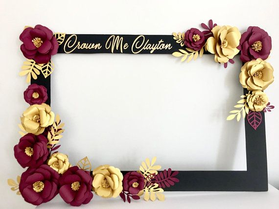 Bridal Shower Wedding Selfie Frame Photo Booth Flowers Floral Selfie Photo Frame Products