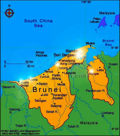nice Brunei Darussalam Map Travelquaz Pinterest Brunei