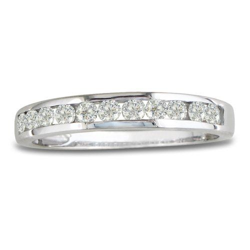 14K White Gold Round Diamond Anniversary Wedding Band Ring (1/4cttw. H/I I1- I2) - Listing price: $399.00 Now: $179.99  #SuperJeweler