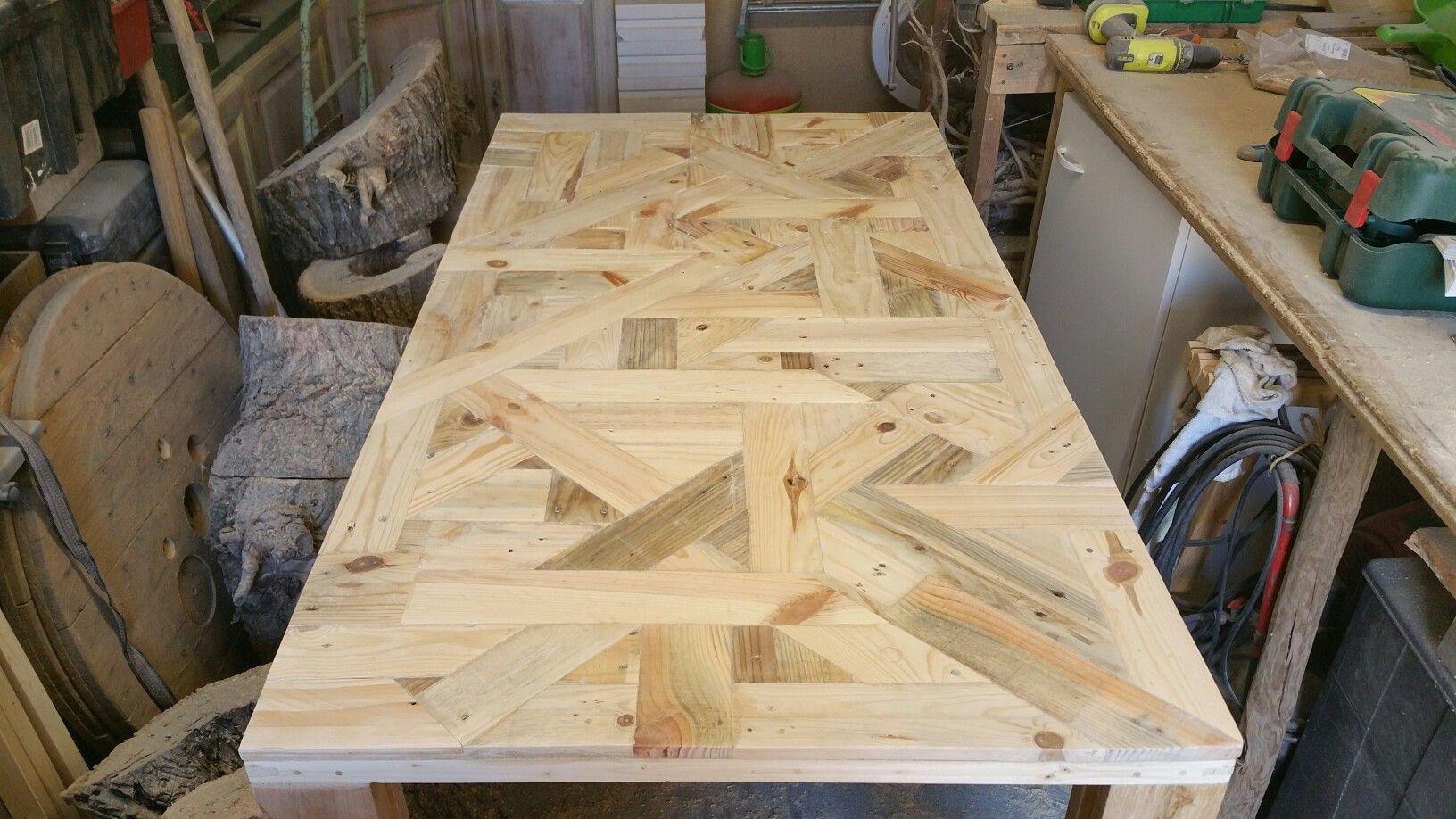 table de salon 150/60 cm fait uniquement avec du bois de