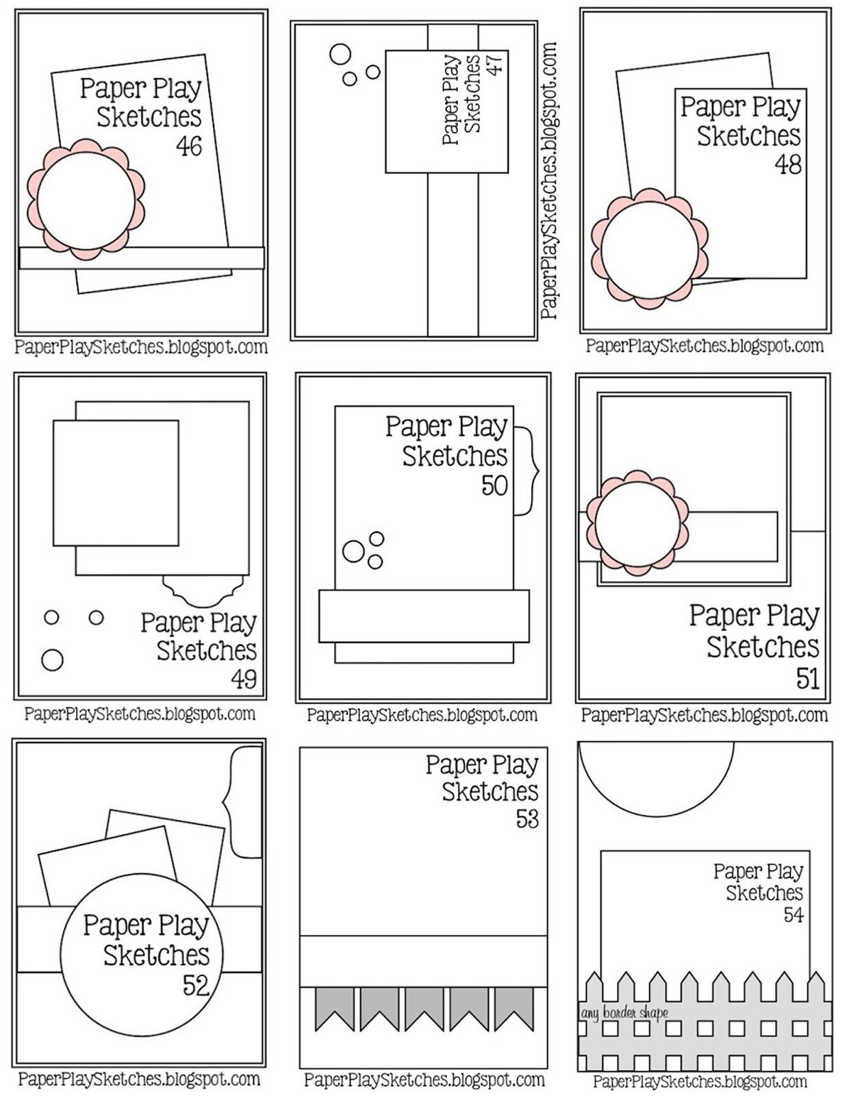 Paper Play Sketches, challenge blog, link up every other Wednesday ...