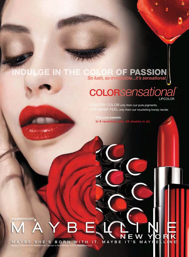 Maybelline Cosmetic Advertising (With images) | Ads lipstick