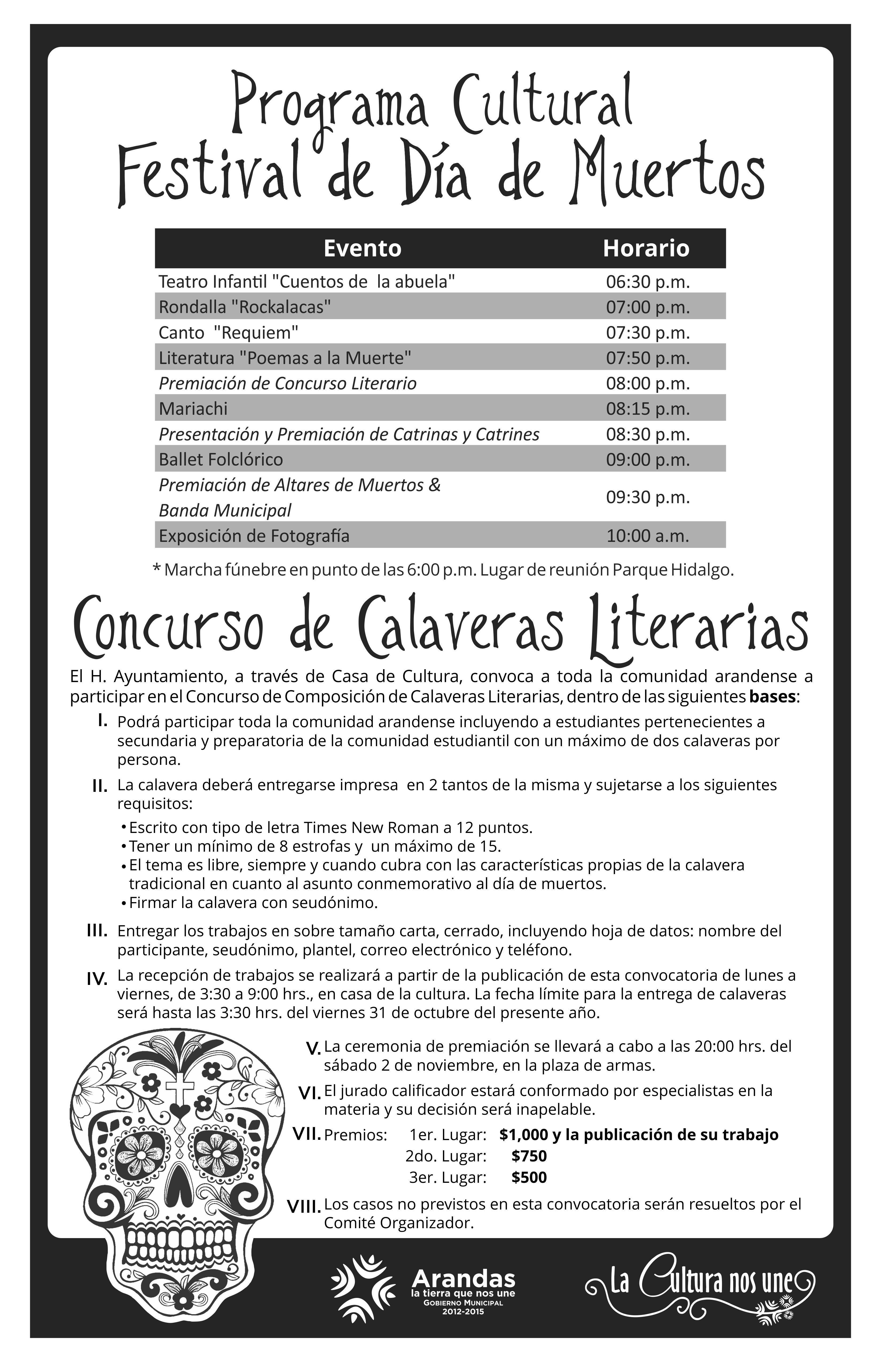 Ayuntamiento convoca al municipio a participar en Concurso de Calaveritas Literarias. | Vive Arandas, Jalisco, La Revista Electrónica