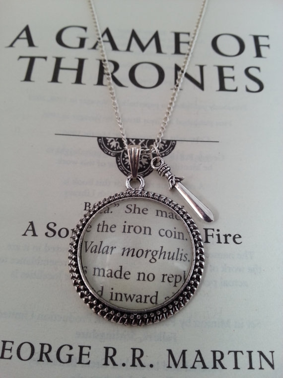Game of Thrones Valar Morghulis Necklace Charm