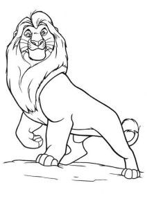 Lion King Coloring Pages Mufasa Disney Half Sleeve Disney