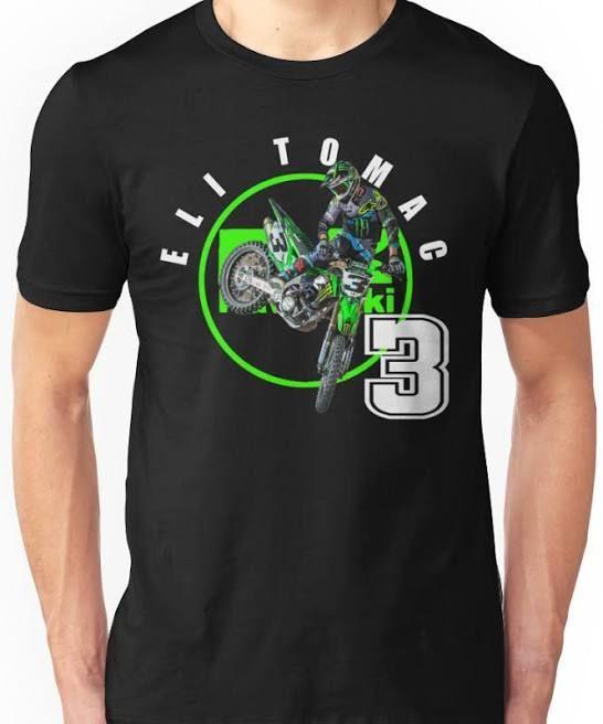 Eli ET3 Tomac Motocross and Supercross Short-Sleeve Black T-Shirt Size S-5XL