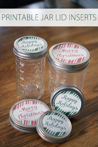 101 Days Of Christmas Printable Jar Lid Inserts Life Your Way Christmas Printable Labels Mason Jars Labels Homemade Christmas Gifts