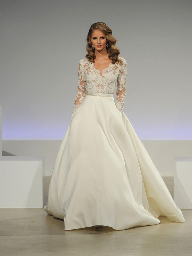 Long sleeve maternity wedding dresses  Anne Barge Fall  Utterly Romantic Wedding Dresses With Modern
