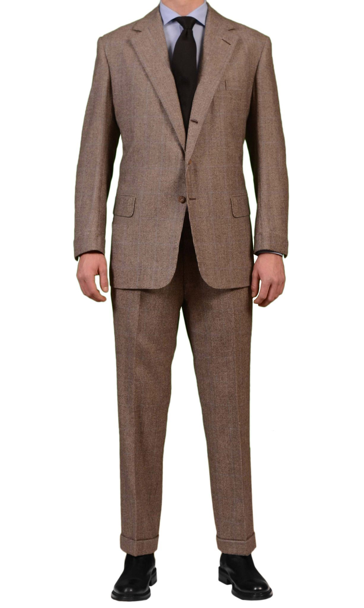 Men's outfits with flannel  ANDERSON u SHEPPARD Bespoke Prince of Wales Wool Flannel Suit US