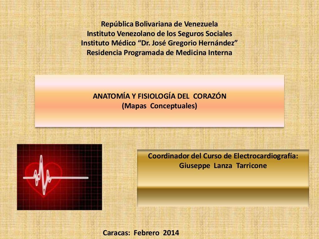Mapas conceptuales anatomía y fisiología del corazón by giulanzata ...