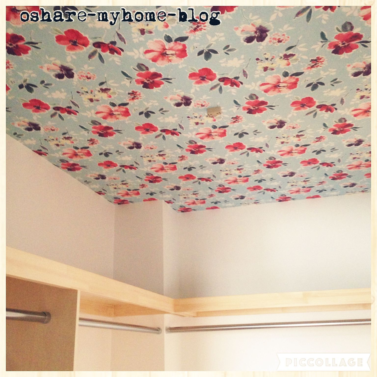 天井 櫛ランダム模様 を付けて 玄関 表札 塗り壁 模様