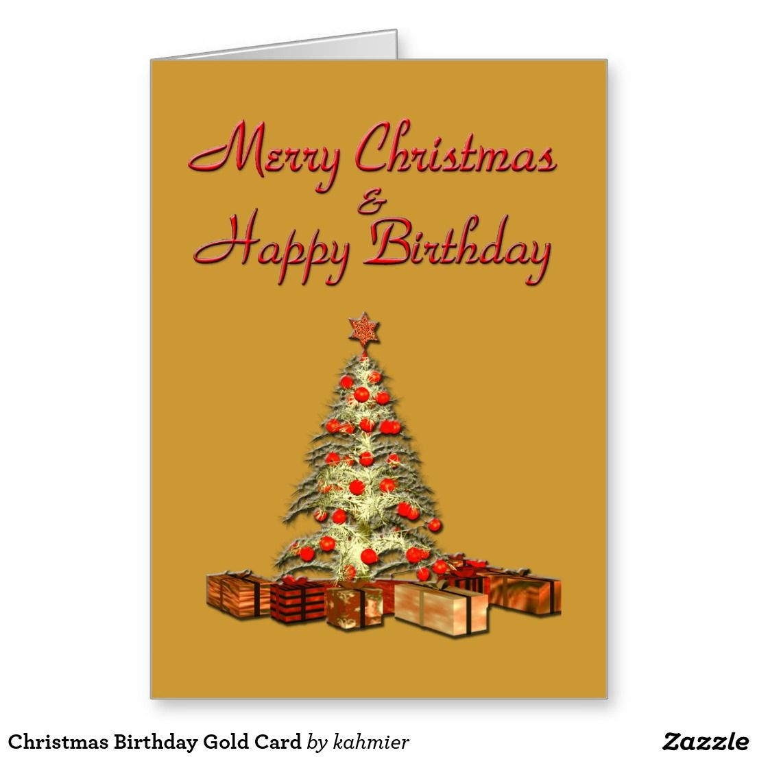 Christmas Birthday Gold Card