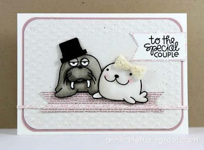 To The Special Couple card by Anni - Paper Smooches - Chilly Chums