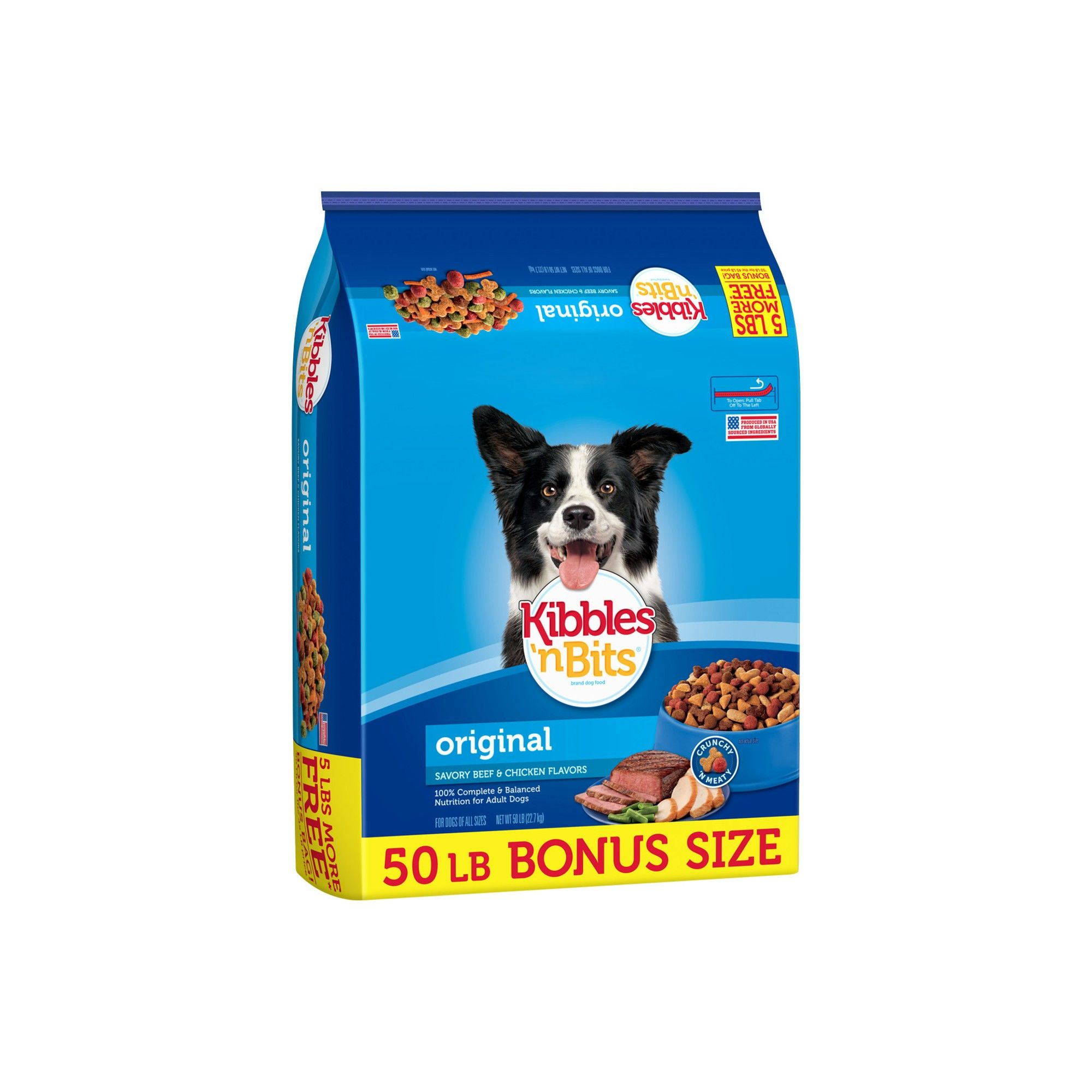 Kibbles N Bits Original Savory Beef And Chicken Dry Dog Food