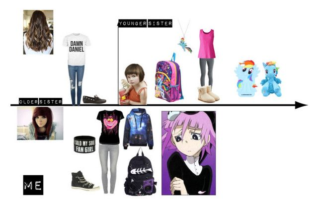 """Me and My Siblings!"" by glitching-galaxy ❤ liked on Polyvore featuring art"