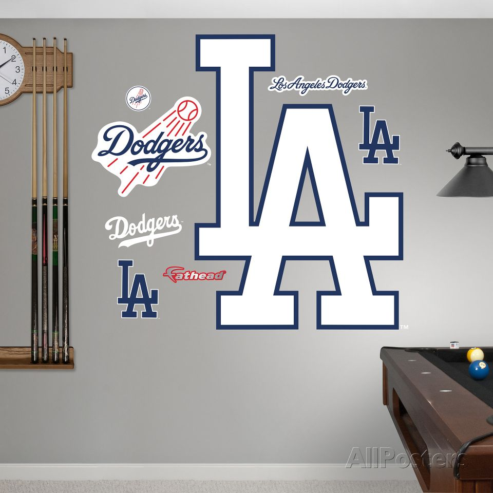 Los Angeles Dodgers Alternate Logo Wall Decal At AllPosterscom - How do you install a wall decal suggestions
