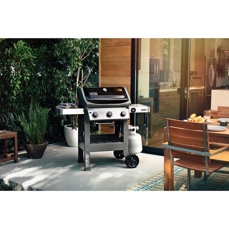 Weber Spirit Ii E 310 Black 3 Burner Liquid Propane Gas Grill Lowes Com Propane Gas Grill Gas Grill Gas Grill Reviews