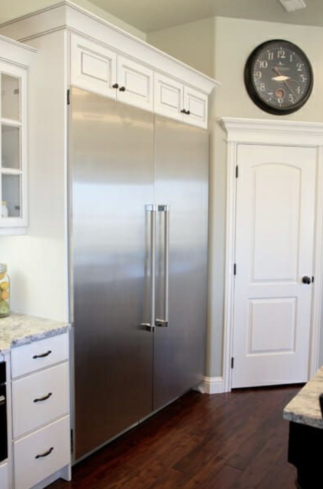 Thermador Side By Side Refrigerator And Freezer Columns Outdoor Kitchen Appliances Home Built In Refrigerator
