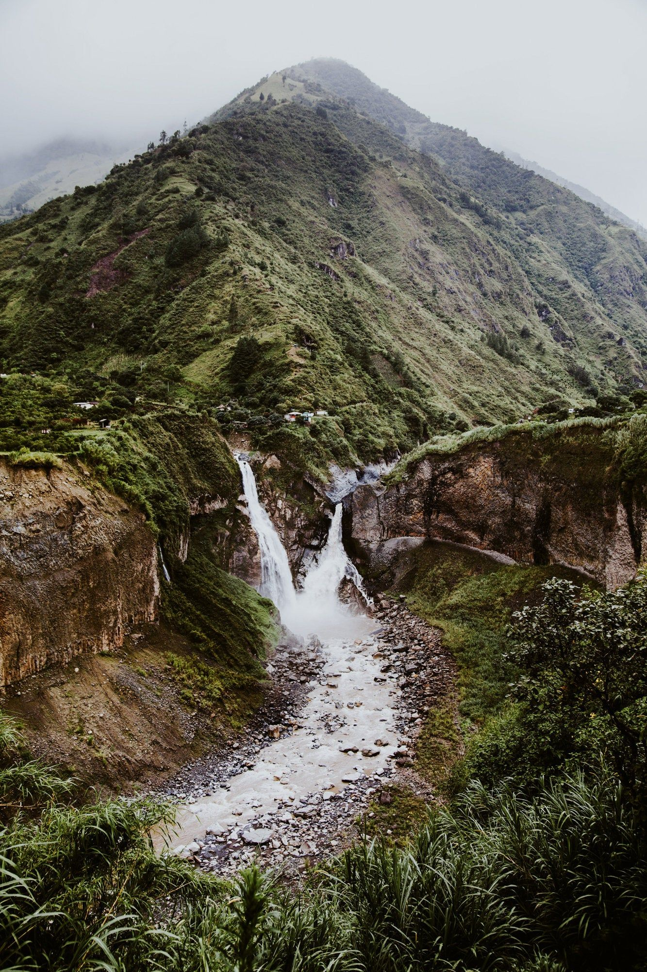Ecuador Waterfall Print Ecuador Print Travel Photography Waterfall Print Landscape Wall Art Landscape Photography Mountain Print Landscape Photography Landscape Wall Art Mountain Print