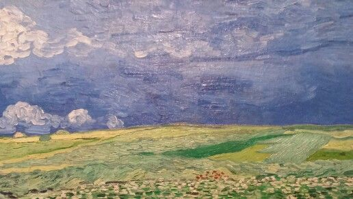 Wheat field under thunder clouds