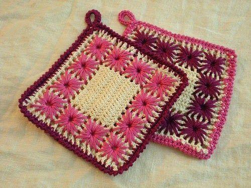Stoere Pannenlappen Haken Haakpatroon Origineel Mooi Crochet