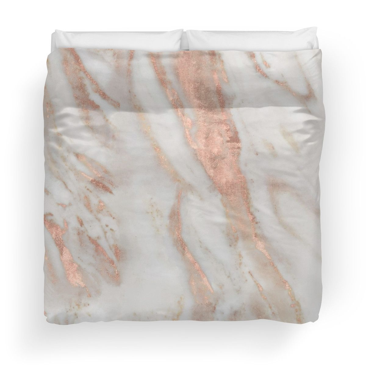 Civezza Rose Gold Marble Duvet Cover By Marbleco In 2018 New