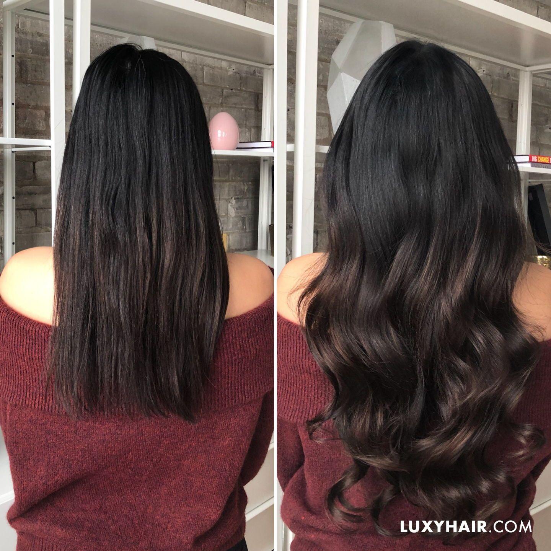 Balayage Hair Extensions   Seamless Off Black Balayage   Balayage ...