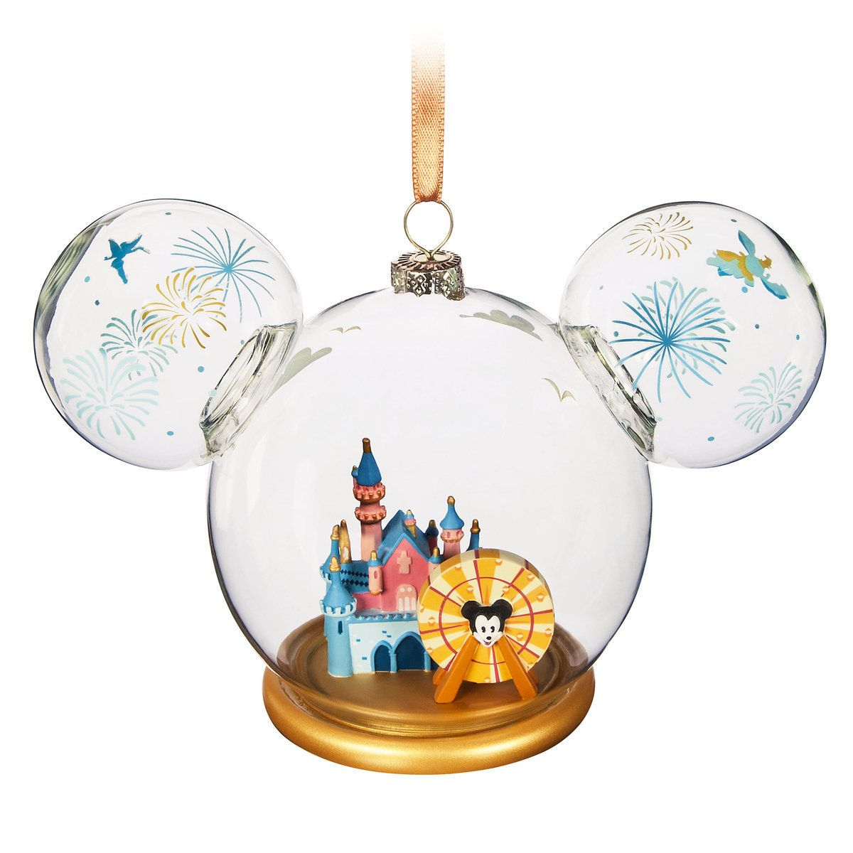 Product Image of Mickey Mouse Icon Glass Ornament - Disneyland # 1 ...