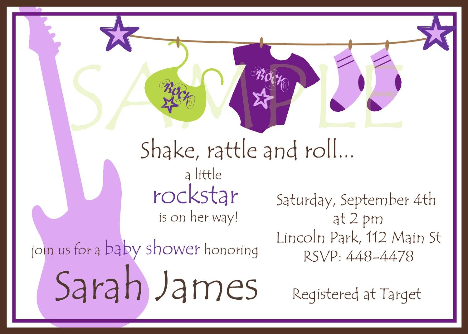 rock and roll baby shower theme   Rockstar Baby Shower Girl ...