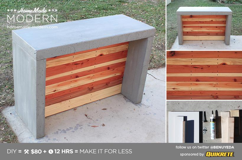 Pour Terrasse Diy Concrete Bar Ou Comptoir Projets En