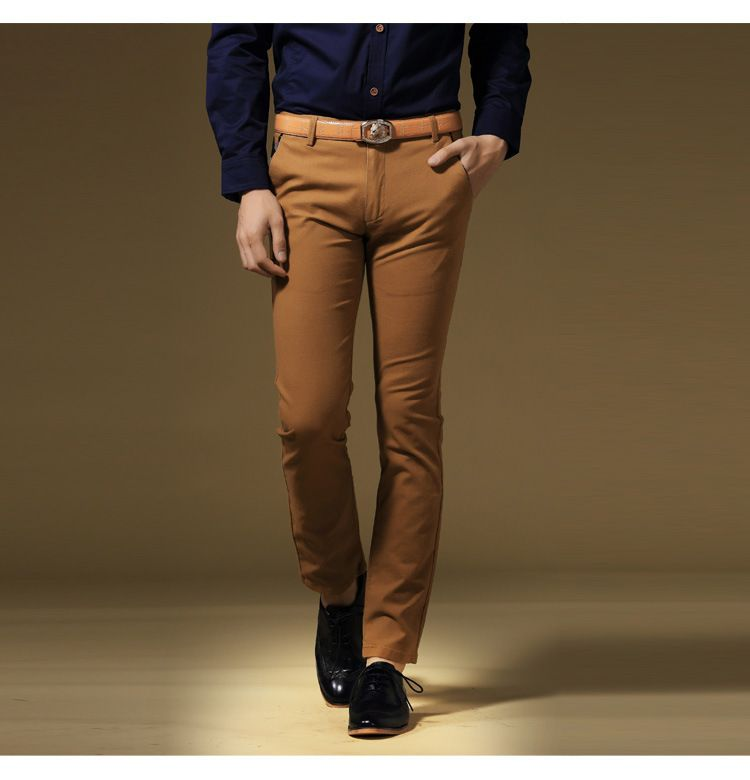 Sexy-Business-Pants-For-Men-Slim-Fit-Formal-Tousers-Mens-Stretch ...