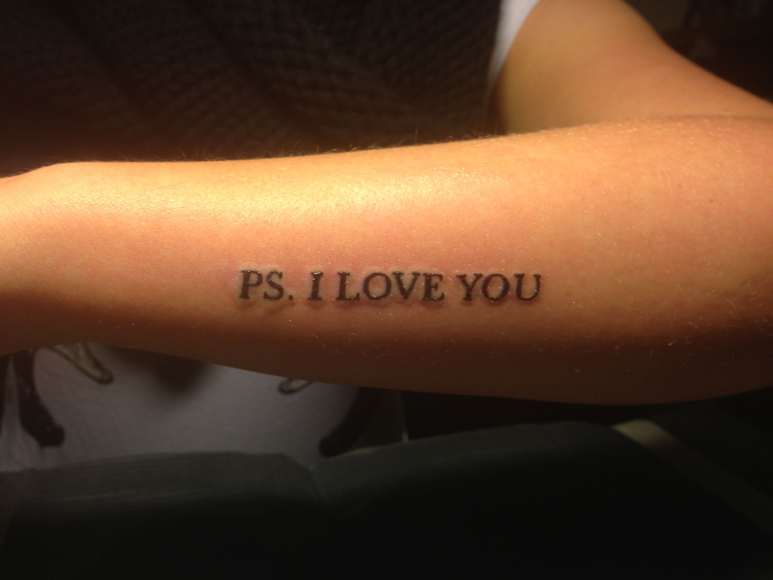 ps i love you tattoo done by duncan sandt tatters piercings pinterest. Black Bedroom Furniture Sets. Home Design Ideas