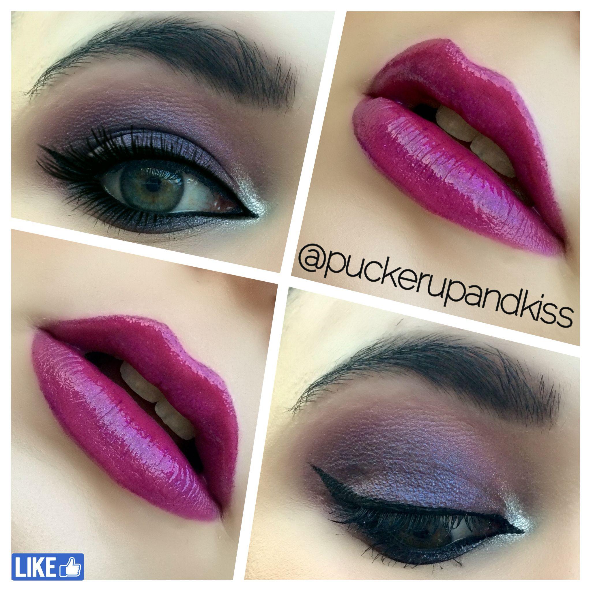 Look en morados¡! Lo adoro #makeup #blogger