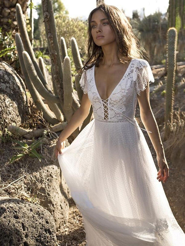 11+ White maxi beach wedding dress ideas in 2021