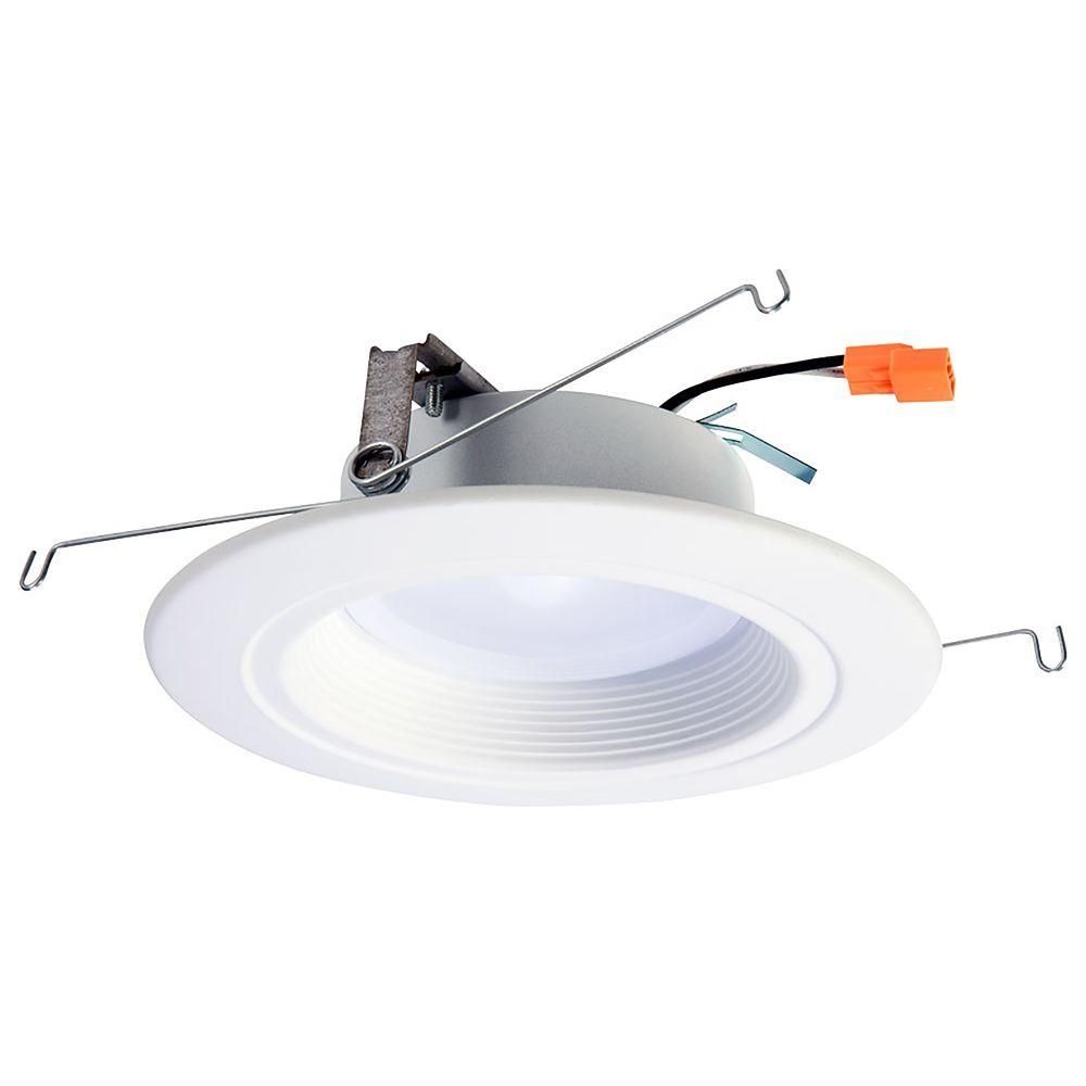 Lf 1 Original By Mep Halo 5 In And 6 In Matte White Recessed Retrofit Baffle Trim Led M Led Recessed Lighting Led Recessed Ceiling Lights Recessed Lighting