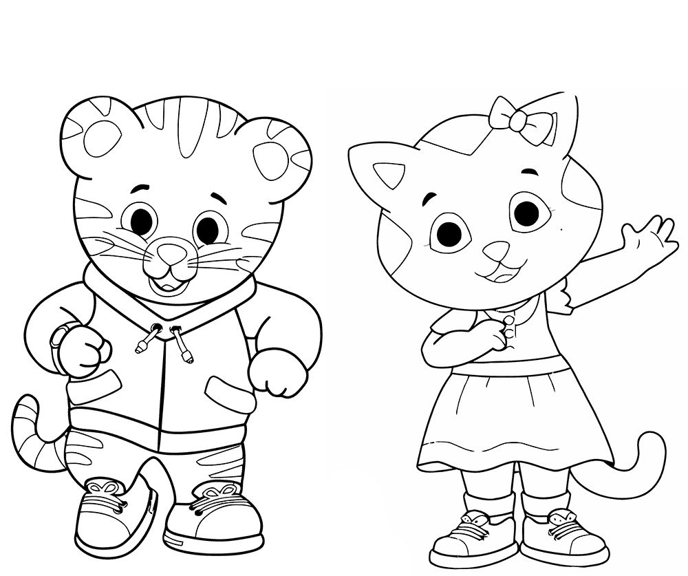 image regarding Daniel Tiger Coloring Pages Printable titled 20 Daniel Tiger Halloween Coloring Site Ayla coloring