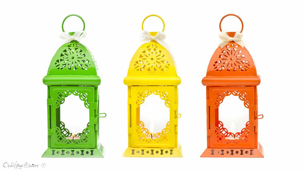 Event /& Wedding Decor Richland Metal Lantern Moroccan Temple Set of 10 Home