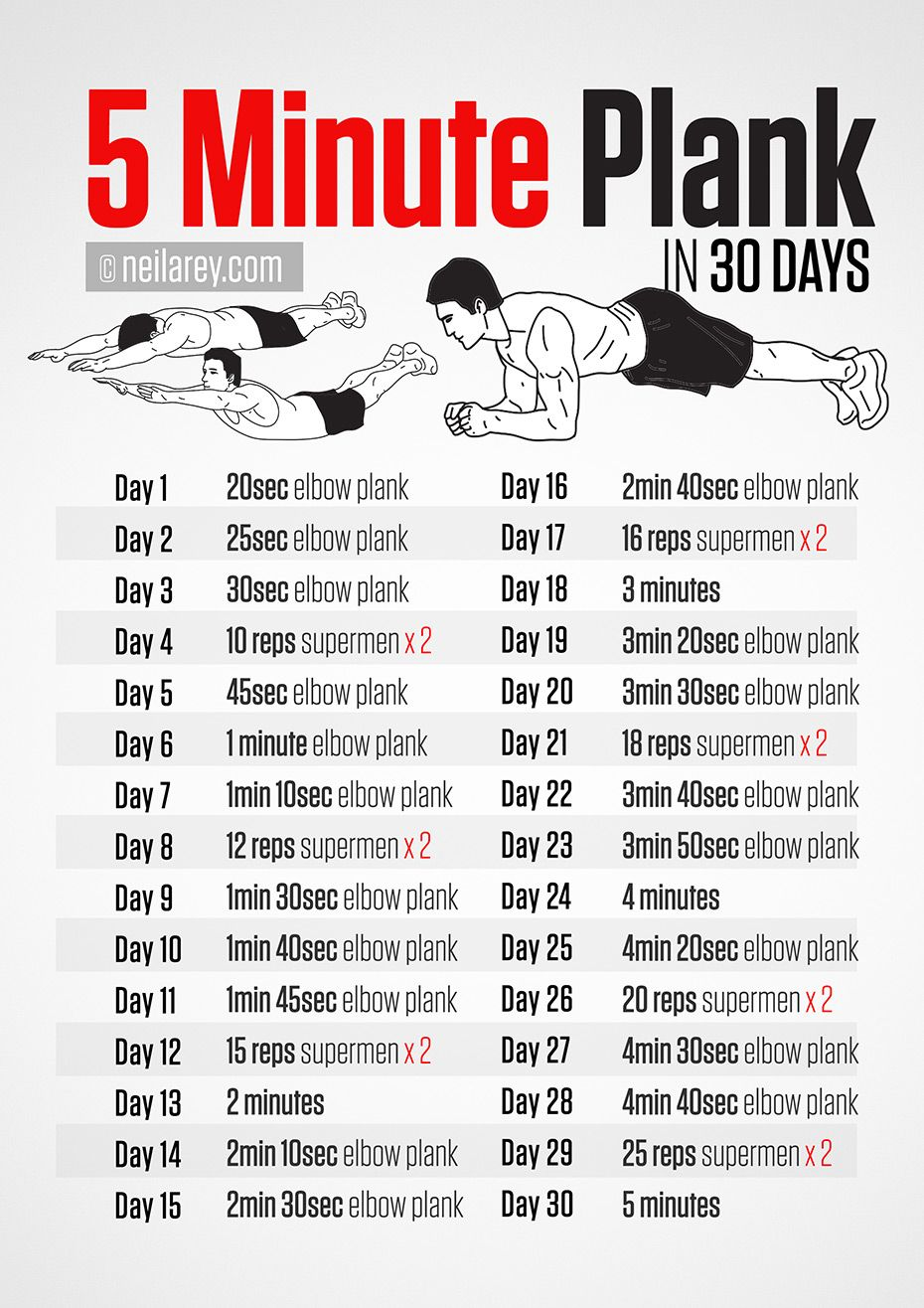 5 Minute Plank 30 days Challenge! | Health and Fitness ...