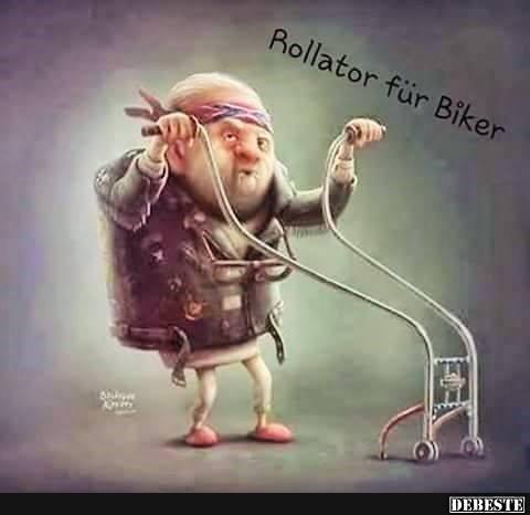 Rollator Fur Biker Lustige Bilder Spruche Witze Echt Lustig