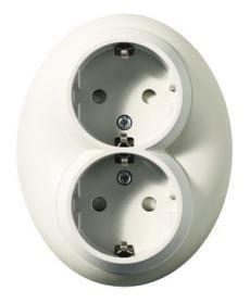 JärkiALE! Schneider Electric Renova 2-pistorasia valkoinen (Ei sisällä kehystä) - Talotarvike.com