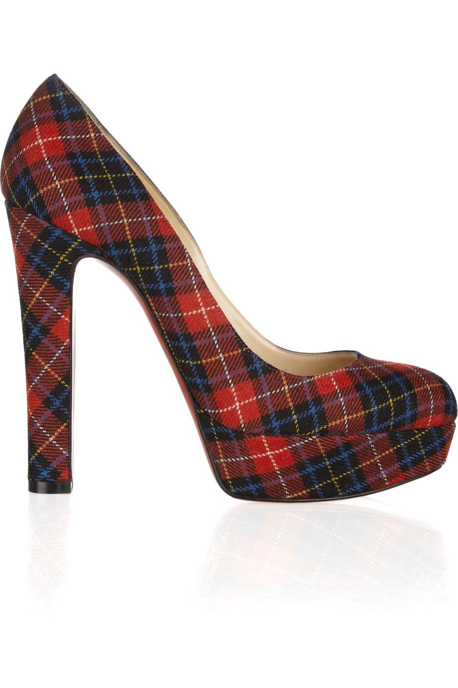 63aa6c11c7a Christian Louboutin tartan pumps. I would do unspeakable things to get  these on my feet.