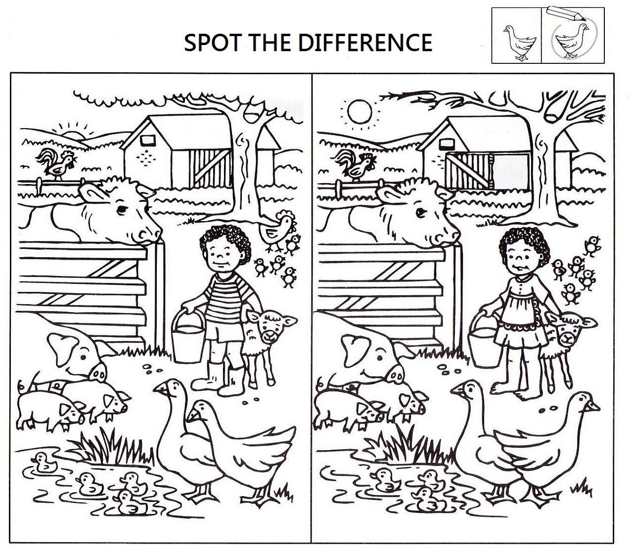 Spot The Difference Puzzle With Images