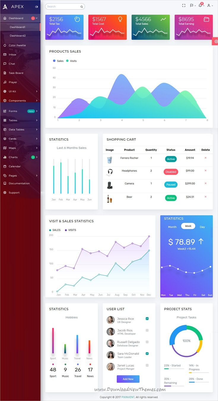 Apex - Angular 5+ & Bootstrap 4 HTML Admin Template