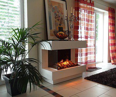 elektrischer kamin mit opti myst 3d feuer wohnzimmer ideen modernekamine elektrokamin. Black Bedroom Furniture Sets. Home Design Ideas