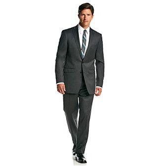 Calvin Klein Men's Charcoal Extreme Slim Fit 2-Piece Suit