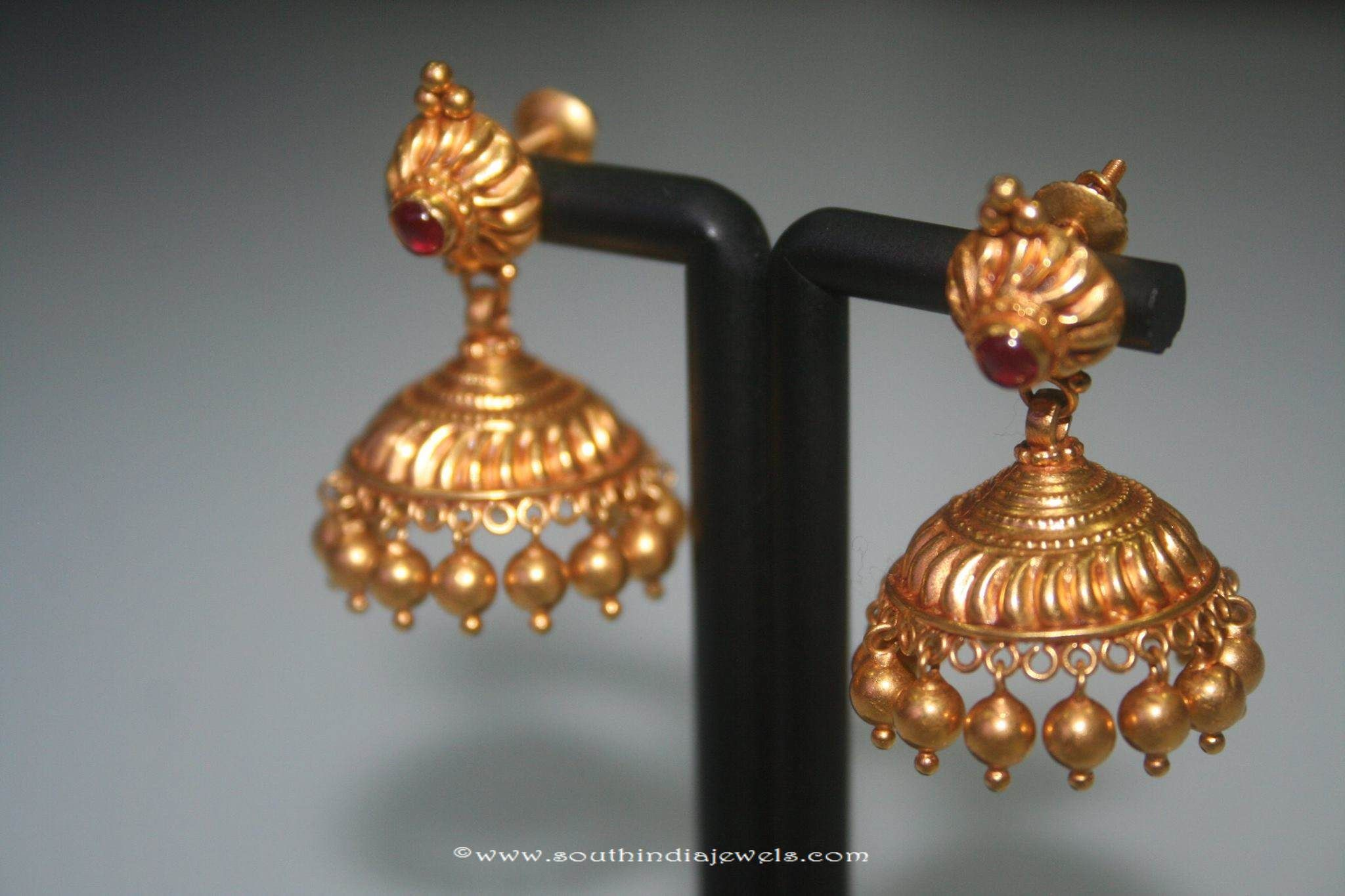 Simple Gold Jhumki From Prakruthi | Gold, Jewel and Antique coins