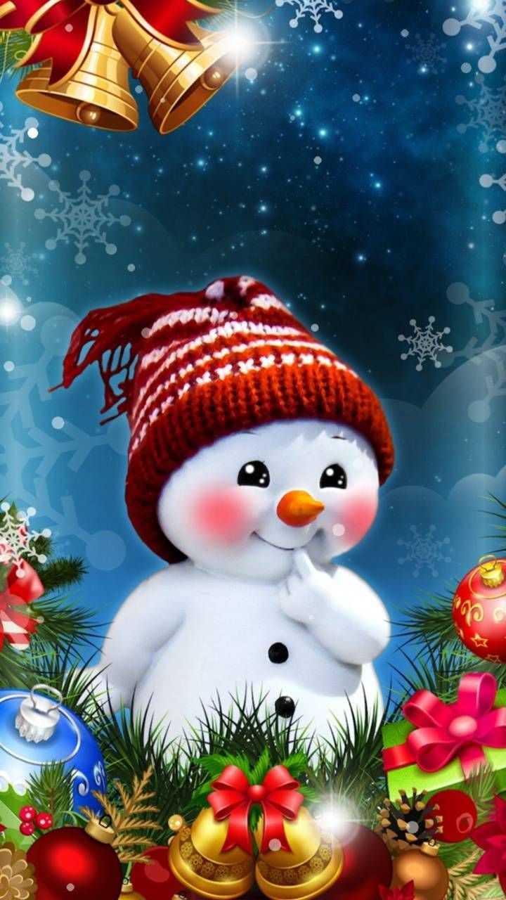 Christmas snowman wallpaper by georgekev - 6c - Fr