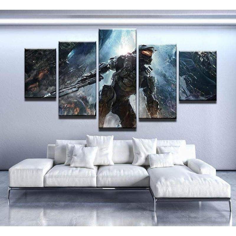Halo Poster Gaming Canvas Wall Art Canvas Art Wall Decor Customized Canvas Art Canvas Wall Decor