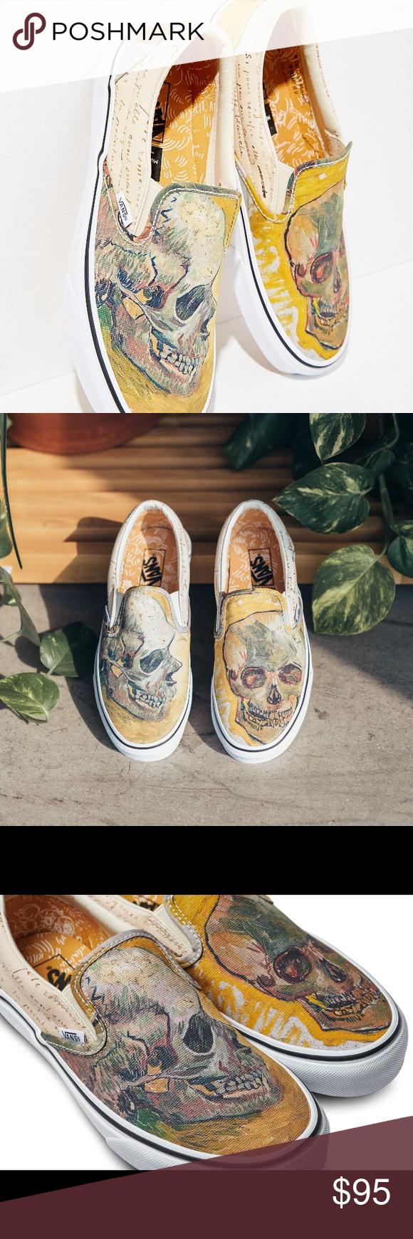 Vans Van Gogh Skull Painting Slip On Shoes Slip On Shoes On Shoes Vans